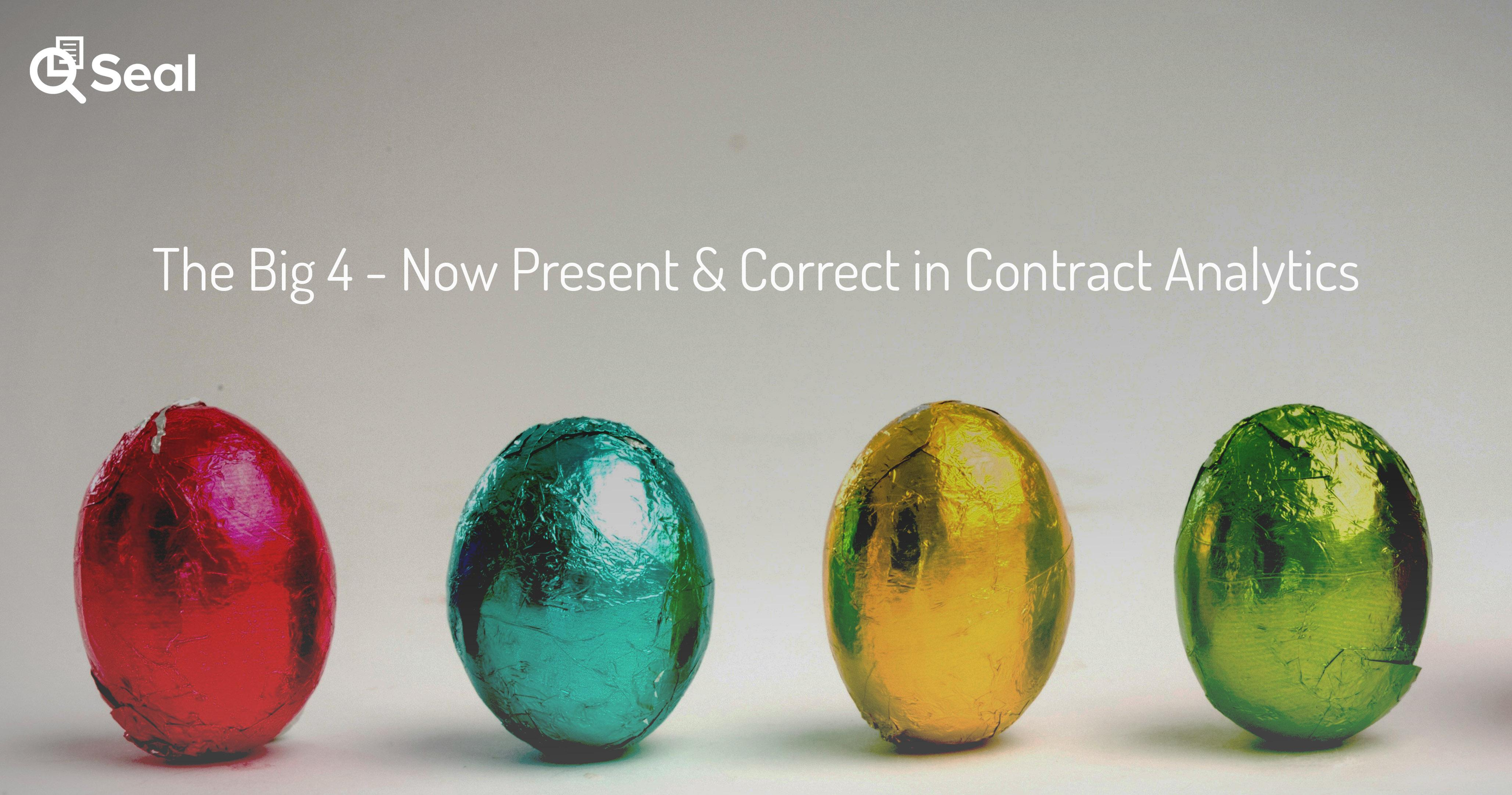 The Big 4 – Now Present & Correct in Contract Analytics