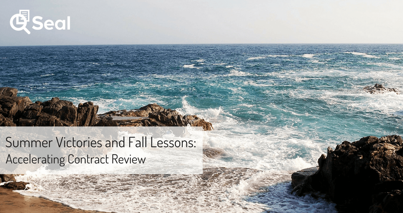 Summer Victories and Fall Lessons: Accelerating Contract Review