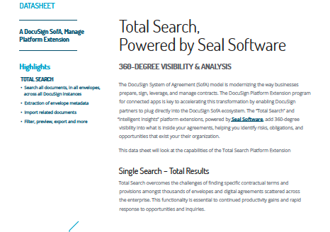 Total Search Datasheet