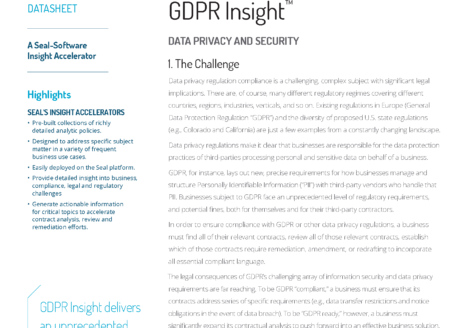 GDPR Insight™: Data Protection And Security