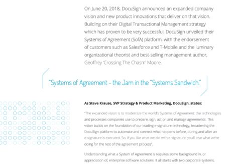 System of Agreement – Manage