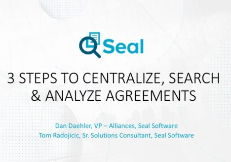 3 Steps to Centralize, Search & Analyze Agreements