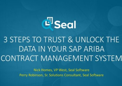 3 Steps to Trust & Unlock the Data in Your SAP Ariba Contract Management System
