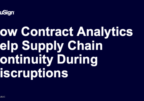 How Contract Analytics Help Supply Chain Continuity During Disruptions