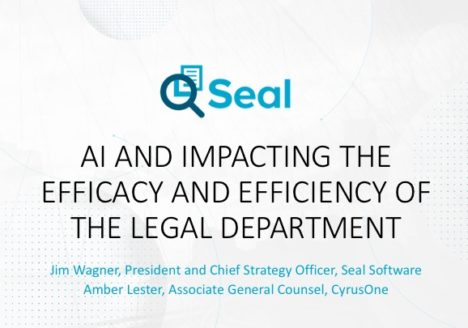 AI and Impacting the Efficacy and Efficiency of the Legal Department
