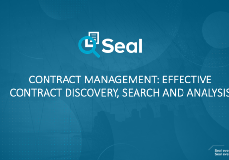 Contract Management: Effective Contract Discovery, Search, and Analysis