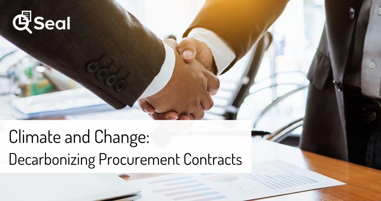 Climate and Change: Decarbonizing Procurement Contracts