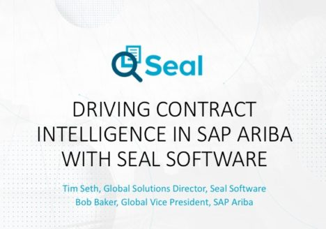 Driving Contract Intelligence in SAP Ariba with Seal Software