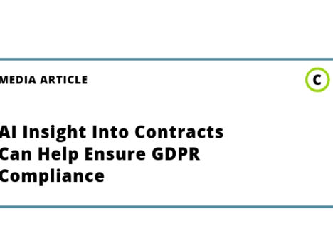 AI Insight into contracts can help ensure GDPR compliance